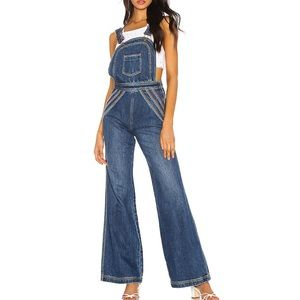 NWT FREE PEOPLE Chasing Rainbows Pant Overalls 4